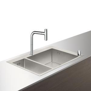 Кухонная комбинация hansgrohe C71-F655-09 43206800, под сталь