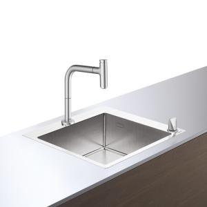 Кухонная комбинация hansgrohe C71-F450-06 43201800, под сталь