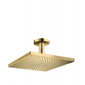 Верхний душ hansgrohe Raindance E 300 1jet с потолочным подсоединением 26250990, полированное золото