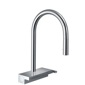 Кухонный смеситель hansgrohe Aquno Select M81, однорычажный, 170, с вытяжным душем, 3jet, sBox 73831000, хром