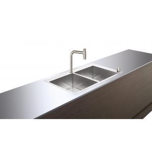 Кухонная комбинация 370/370 C71-F765-10 Hansgrohe 43203800, под сталь