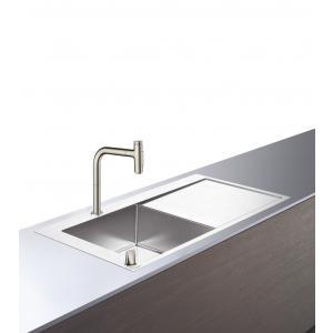 Кухонная комбинация 450 с крылом C71-F450-12 Hansgrohe 43230800, под сталь