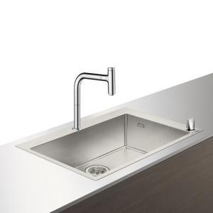 Кухонная комбинация hansgrohe C71-F660-08 43202800, под сталь