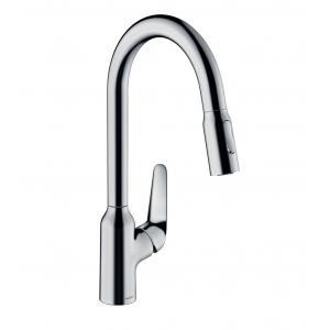 Кухонный смеситель однорычажный, 220, с вытяжным душем, 2jet Hansgrohe 71800000