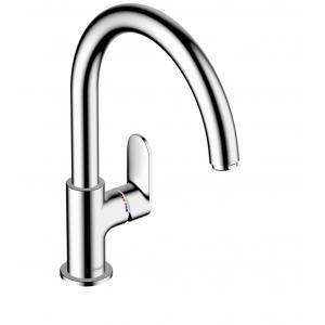 Кухонный смеситель 260, однорычажный с поворотным изливом, M35 Hansgrohe Vernis Blend 71870000, хром