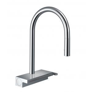 Кухонный смеситель однорычажный, 170, с вытяжным душем, 3jet Hansgrohe 73837000, хром