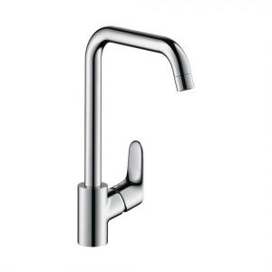 Кухонный смеситель однорычажный, 260, для водонагревателей открытого типа, Hansgrohe 1jet 31822000, хром