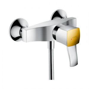 Смеситель для душа однорычажный, с рычаговой рукояткой, ВМ Hansgrohe 31360090, хром/под золото