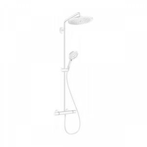 Душевая система 9 л/мин с термостатом и ручным душем Hansgrohe Showerpipe 280 1jet EcoSmart Raindance Select S 120 3jet 26891700 белый