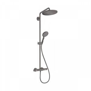 Душевая система 9 л/мин с термостатом и ручным душем Hansgrohe Showerpipe 280 1jet EcoSmart Raindance Select S 120 3jet 26891340, черный хром