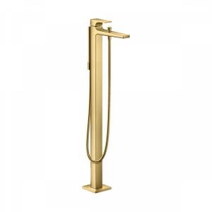 Смеситель hansgrohe Metropol для ванны однорычажный, напольный, с рычаговой рукояткой, 32532990, полированное золото