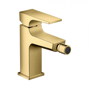Смеситель hansgrohe Metropol для биде, однорычажный, со сливным клапаном Push-Open, 32520990, полированное золото
