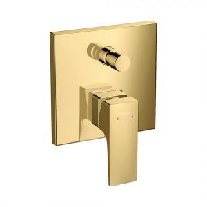 Смеситель hansgrohe Metropol для ванны настенный скрытый с рычаговой рукояткой, 32545990, полированное золото