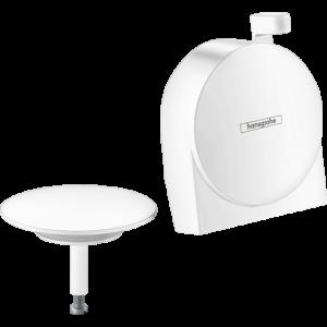 Внешняя часть излива hansgrohe Exafill S на ванну с набором для слива и перелива 58117700, белый матовый