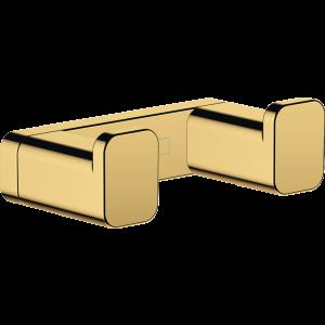 Двойной крючок AddStoris Hansgrohe 41755990, полир. золото