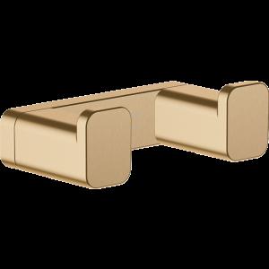 Двойной крючок AddStoris Hansgrohe 41755140, шлифованная бронза