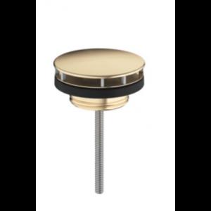 Сливной вентиль hansgrohe с фиксированной крышкой для раковины 50001140, шлифованная бронза
