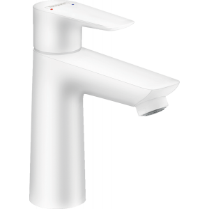 Смеситель hansgrohe Talis E для раковины 110, однорычажный, со сливным гарнитуром 71710700, матовый белый
