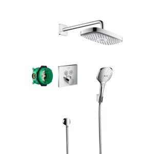 Душевая система скрытого монтажа с термостатом Hansgrohe ShowerSelect 27296000, хром