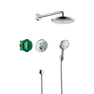 Душевая система скрытого монтажа с термостатом Hansgrohe ShowerSelect S 27297000, хром