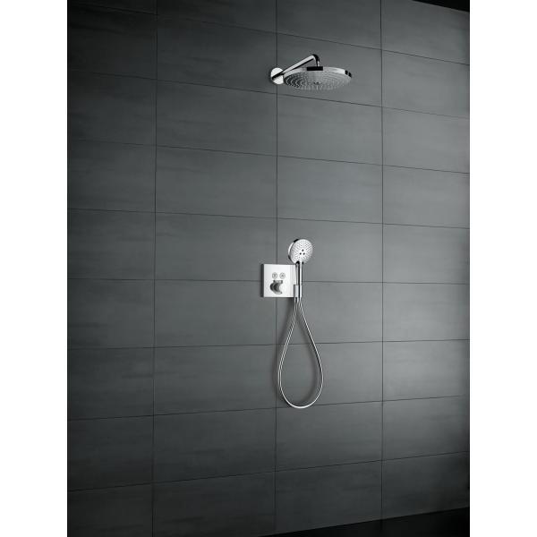 Верхний душ hansgrohe Raindance Select S 300 2jet с держателем 390 мм, хром 27378000