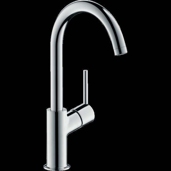 Смеситель hansgrohe Talis для раковины с фиксированным изливом и сливным клапаном Push-Open, хром 32080000