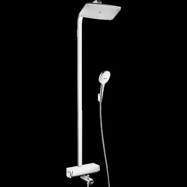 Душевая система hansgrohe Raindance Select E 360 Showerpipe с термостатом для ванны 27113400, белый/хром