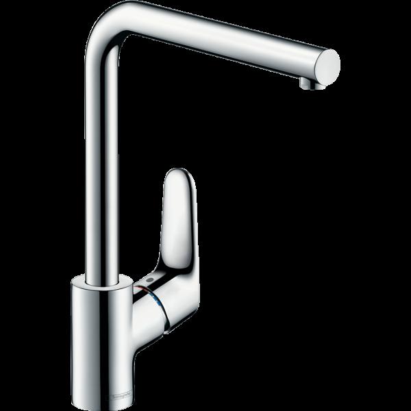 Смеситель hansgrohe Focus для кухонной мойки с поворотным L-образным изливом на 3 положения, хром 31817000