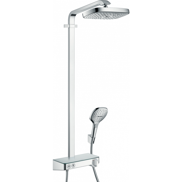 Душевая система hansgrohe Raindance Select E 300 2jet Showerpipe с термостатом 27126000, хром