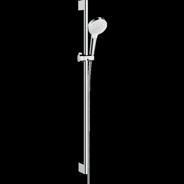 Душевой набор hansgrohe Crometta Vario EcoSmart 90 26538400, белый/хром