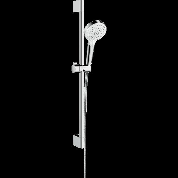Душевой набор hansgrohe Crometta Vario EcoSmart 65 26534400, белый/хром