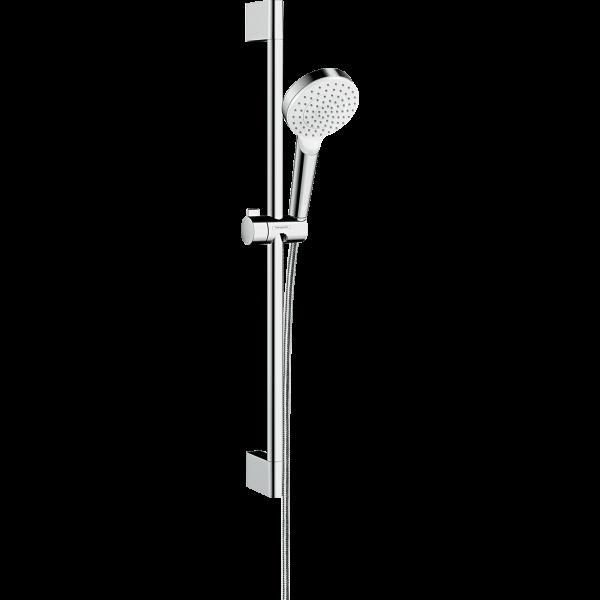 Душевой набор hansgrohe Crometta 1jet Green 65 см. 26554400, белый/хром