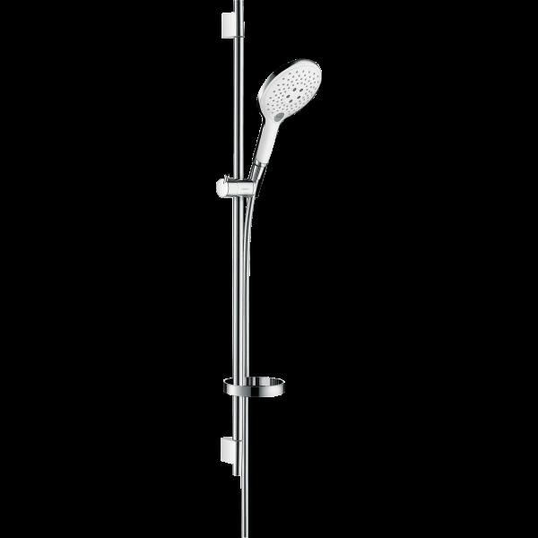 Душевой набор hansgrohe Raindance Select S 150 3 jet/Unica S Puro 27803400, белый/хром