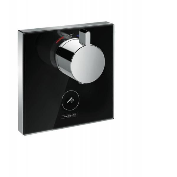 Термостат hansgrohe ShowerSelect Highfow для душа с отдельным выводом для ручного душа, стеклянный 15735600