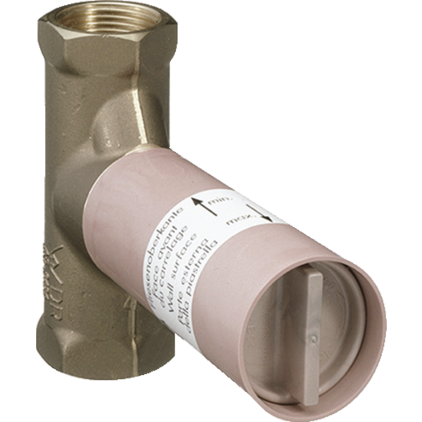 Скрытая шпиндельная часть запорного вентиля hansgrohe 15973180, расход воды 52 л/мин