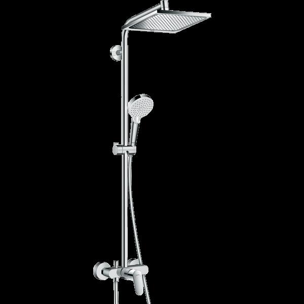 Душевая система hansgrohe Crometta E 240 1jet Showerpipe 27284000, хром