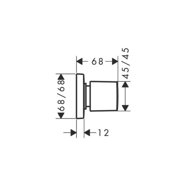Запорный вентиль hansgrohe PuraVida наружная часть 15978000, хром