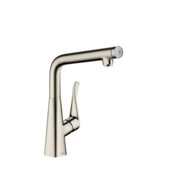 Смеситель hansgrohe Metris Select для кухонной мойки с высоким изливом, под сталь 14883800