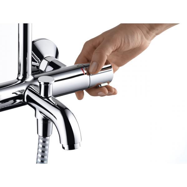 Душевая система Showerpipe 200 1jet с термостатом для ванны Hansgrohe Vernis Blend 26274000, хром