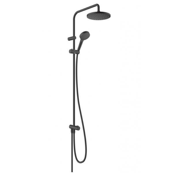 Душевая система Showerpipe 200 1jet Reno Hansgrohe Vernis Blend 26272670, матовый черный