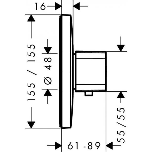 Термостат hansgrohe Ecostat E Highflow для душа 15706000