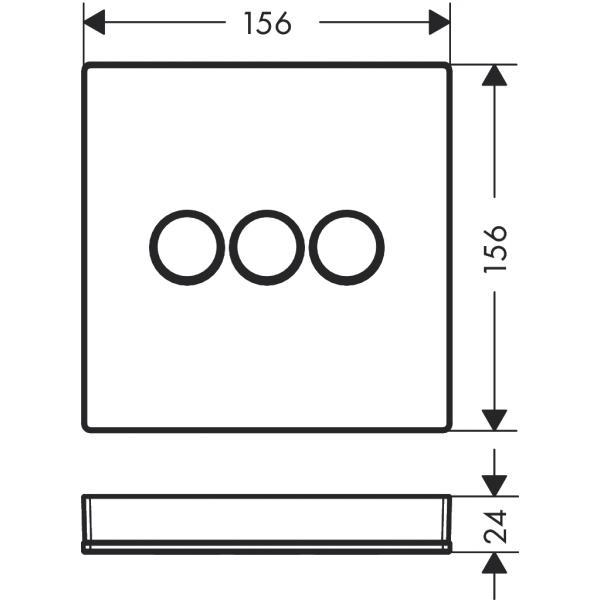 Модуль hansgrohe ShowerSelect Glass для душа 15736400