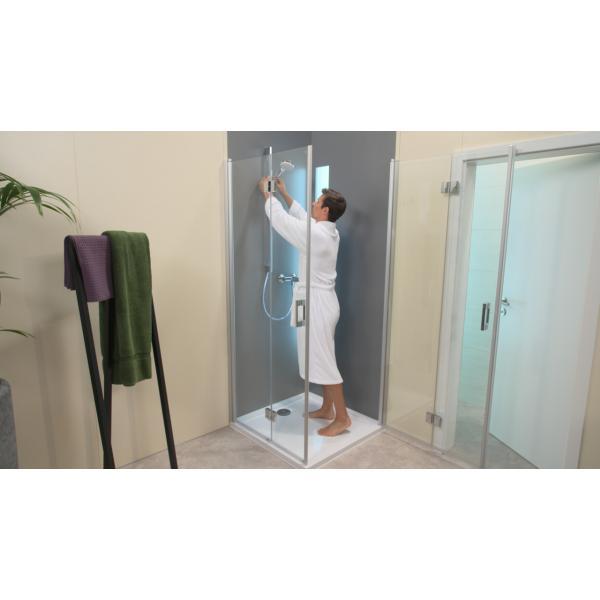 Душевой набор hansgrohe Crometta 1jet 90 см, белый/хром 26537400