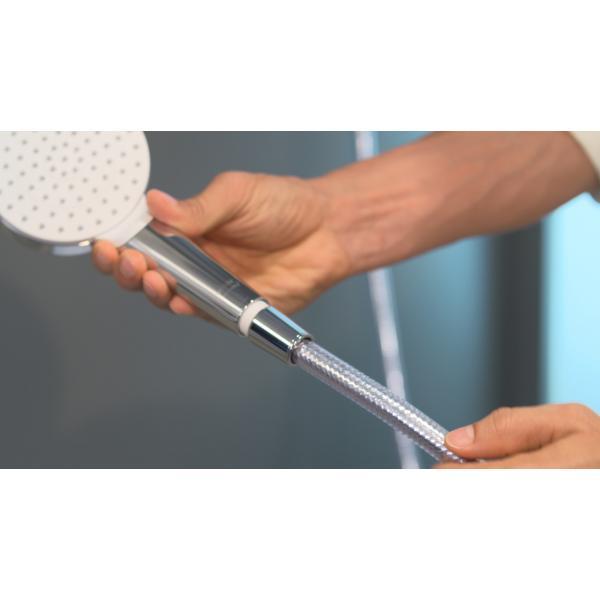 Душевой набор hansgrohe Crometta 1jet EcoSmart 90 см, белый/хром 26539400