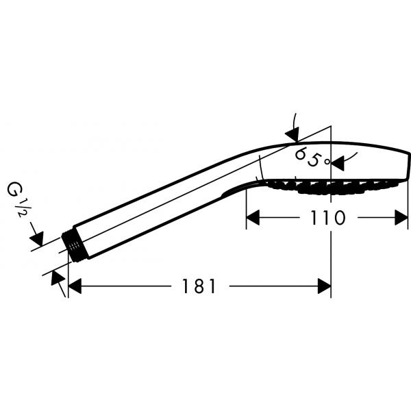 Ручной душ hansgrohe Croma 110 Select Е Multi HS 26810400, белый/хром