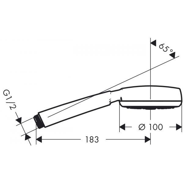 Ручной душ hansgrohe Crometta 100 1jet 26825400