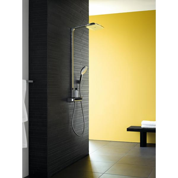 Душевая система hansgrohe Raindance Select E 360 Showerpipe с термостатом, белый/хром 27112400