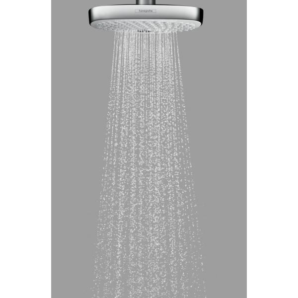 Верхний душ hansgrohe Raindance Select E 300 2jet 27384400, белый/хром