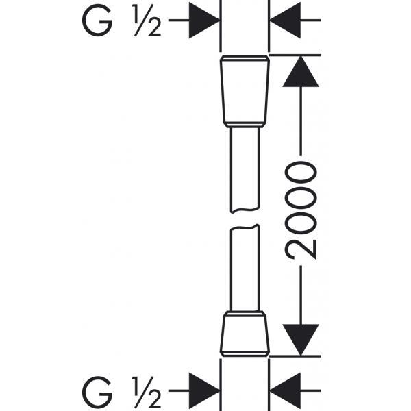 Душевой шланг hansgrohe Isiflex с защитой от перекручивания 200 см. 28274000, хром