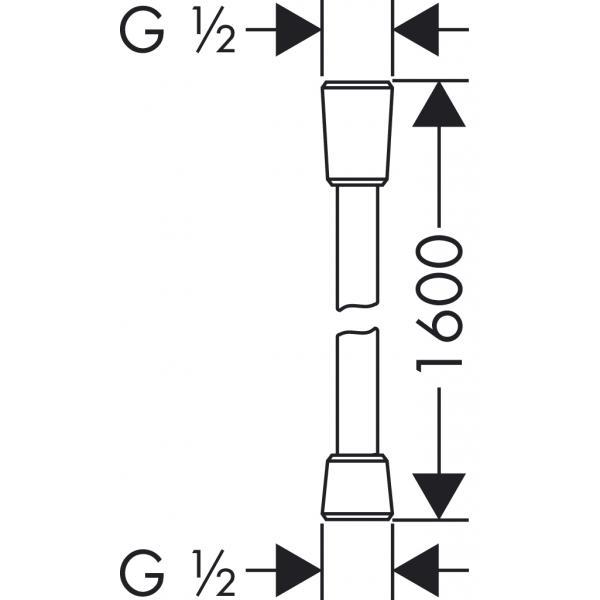 Душевой шланг hansgrohe Isiflex с защитой от перекручивания 160 см, хром 28276000